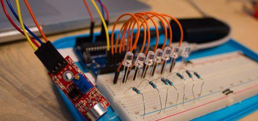 Sound sensitive lights w sensor arduino